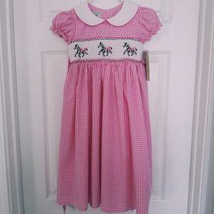 Marmellata Smocked Zebra Dress
